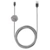 Дата-кабель USB-Lightning для Apple iPhone, iPad, iPod touch (Native Union Night Cable NCABLE-L-ZEB) (зебра) - Usb, hdmi кабельUSB-, HDMI-кабели, переходники<br>Кабель с разъемами USB-Lightning, длина 3 м. Позволяет заряжать и синхронизировать устройство с ПК.<br>