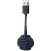 Дата-кабель USB-Lightning для Apple iPhone, iPad, iPod (Native Union KEY Cable KEY-L-MAR) (синий) - Usb, hdmi кабельUSB-, HDMI-кабели, переходники<br>Кабель с разъемами USB-Lightning, длина 20 см. Позволяет заряжать и синхронизировать устройство с ПК. Обладает закрывающимися разъемами, выполнен в форме брелка со смотанным в клубок шнуром.<br>