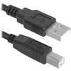 Кабель USB AM-BM 3м (Defender USB04-10) (черный) - Кабель, переходникКабели, шлейфы<br>Кабель с разъемами USB AM-BM, тип USB 2.0, длина 3м.<br>