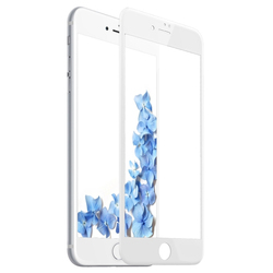 Защитное стекло для Apple iPhone 8 Plus (Baseus Silk-screen Tempered Glass Film SGAPIPH8P-ASL02) (белый)