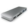USB-хаб Satechi Combo Hub ST-TCUPM (серый) - USB HUBUSB HUB<br>USB Хаб, пассивный, разъемы USB: 2 разъема USB 3.0, 1 разъем USB-C, материал корпуса: алюминий. Поддержка карт памяти: SD, Micro SD; питание: USB-C. Подходит для Apple MacBook.<br>