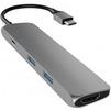 USB-хаб Satechi Slim Aluminum ST-CMAM (серый) - USB HUBUSB HUB<br>USB Хаб, пассивный, материал корпуса: алюминий. Подключение к ПК: USB Type C. Количество портов: 4 шт. Типы выходов: HDMI с поддержкой 4K, 2xUSB 3.0, USB Type C.<br>