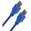 Кабель USB AM-AM 1.8м (Smartbuy К860-100) (синий) - Кабель, переходникКабели, шлейфы<br>Кабель с разъемами USB AM-AM, тип USB 3.0, длина 1.8м.<br>