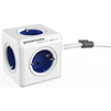 Сетевой удлинитель Allocacoc PowerCube Extended 1300BL/DEEXPC (5 розеток) (бело-синий) - Сетевой фильтрСетевые фильтры<br>Сетевой удлинитель, длина кабеля - 1.5 м, заземление, защитные шторки, количество розеток - 5, максимальная нагрузка на линию - 1000 Вт, материал - термостойкая электротехническая пластмасса, рабочее напряжение - 230 В, сила тока - 16 А.<br>