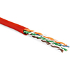 Витая пара U/UTP кат.5e LSZH 100м (Hyperline UUTP4-C5E-P24-IN-LSZH-RD-100) (красный) - КабельСетевые аксессуары<br>Неэкранированная витая пара U/UTP, категория 5е, LSZH, длина 100м.<br>