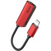 Кабель-переходник Lightning-miniJack 3.5 mm, Lightning (Baseus L32 CALL32-09) (красный) - Кабель, разъем для акустической системыКабели и разъемы для акустических систем<br>Кабель-переходник Baseus L32 позволит расширить возможности одновременного использования вашего девайса с разъемом Lightning. С данным аксессуаром Вы сможете одновременно наслаждаться любимой музыкой, подключив аудиоаппаратуру с разъемом miniJack 3.5 и заряжать воспроизводящий гаджет от СЗУ, АЗУ или портативного аккумулятора.<br>