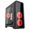 GameMax G561-F w/o PSU Black Red Led - КорпусКорпуса<br>Корпус Miditower, без блока питания, 2хUSB 2.0, 1хUSB 3.0, выход на наушники/микрофон.<br>