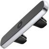Автомобильный магнитный держатель для смартфона (Baseus Double Clip Vehicle Mount Horizontal type SUHS-DP0S) (серебристый) - Автомобильный держатель для телефонаАвтомобильные держатели для мобильных телефонов<br>Baseus Double Clip Vehicle Mount Horizontal type представляет собой стильный и удобный магнитный держатель для смартфонов. Он устанавливается в дефлектор воздуховода автомобиля и имеет горизонтальную ориентацию. Четыре мощных магнита равномерно распределяют силу притяжения, позволяя вам быстро и удобно закреплять коммуникатор на держателе, просто приложив его в любом месте. Большая длина аксессуара позволяет использовать его сразу для двух телефонов.<br>