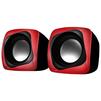 Sven 140 (красно-черный) - Колонка для компьютераКомпьютерная акустика<br>Компьютерная акустика стерео, суммарная мощность 5 Вт, однополосные колонки, материал корпуса колонок: пластик, питание от USB, диапазон частот 100 - 20000 Гц.<br>