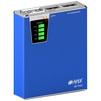 Hiper MP7500 (синий) - Внешний аккумуляторУниверсальные внешние аккумуляторы<br>Hiper Power Bank 7500 - внешний аккумулятор емкостью 7500mAh, 2x USB (1.0A/2.1A), LED-фонарик, кардридер.<br>