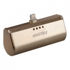 Внешний аккумулятор для Apple iPhone 5, 5C, 5S, SE, 6, 6 plus, 6S, 6S Plus, 7, 7 Plus, 8, 8 Plus, iPad 4, Air, Air 2, Pro 9.7, Pro 12.9, PRO, mini 1, mini 2, mini 3, mini 4 (SmartBuy TURBO-8 SBPB-150) (золотистый) - Внешний аккумуляторУниверсальные внешние аккумуляторы<br>Портативное зарядное устройство, емкость 2200мАч, разъем Apple Lightning 8pin, выходной ток: 2.1А, защита: от избыточного заряда/саморазряда/короткого замыкания/превышения напряжения/по току, LED-индикация.<br>