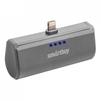 Внешний аккумулятор для Apple iPhone 5, 5C, 5S, SE, 6, 6 plus, 6S, 6S Plus, 7, 7 Plus, 8, 8 Plus, iPad 4, Air, Air 2, Pro 9.7, Pro 12.9, PRO, mini 1, mini 2, mini 3, mini 4 (SmartBuy TURBO-8 SBPB-120) (серый) - Внешний аккумуляторУниверсальные внешние аккумуляторы<br>Портативное зарядное устройство, емкость 2200мАч, разъем Apple Lightning 8pin, выходной ток: 2.1А, защита: от избыточного заряда/саморазряда/короткого замыкания/превышения напряжения/по току, LED-индикация.<br>