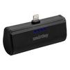 Внешний аккумулятор для Apple iPhone 5, 5C, 5S, SE, 6, 6 plus, 6S, 6S Plus, 7, 7 Plus, 8, 8 Plus, iPad 4, Air, Air 2, Pro 9.7, Pro 12.9, PRO, mini 1, mini 2, mini 3, mini 4 (SmartBuy TURBO-8 SBPB-100) (черный) - Внешний аккумуляторУниверсальные внешние аккумуляторы<br>Портативное зарядное устройство, емкость 2200мАч, разъем Apple Lightning 8pin, выходной ток: 2.1А, защита: от избыточного заряда/саморазряда/короткого замыкания/превышения напряжения/по току, LED-индикация.<br>