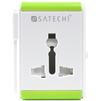 Умный адаптер для путешествий Satechi Smart Travel Adapter (B00EZD5AFI) (белый) - Сетевой адаптер 220v - USB, ПрикуривательСетевые адаптеры 220v - USB, Прикуриватель<br>Satechi Smart Travel Adapter - это умный адаптер для четырех типов розеток, который станет незаменимым помощником в путешествиях. Он подходит для четырех самых популярных типов розеток. Достаточно повернуть рычажок в ту или иную сторону - и вам станет доступна нужная вилка. В нем есть USB-разъем, а так же встроенная защита с предохранителем, потому при скачках напряжения гаджеты, подключенные к адаптеру, не повредятся.<br>