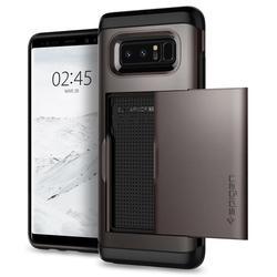 Чехол-накладка для Samsung Galaxy Note 8 (Spigen Slim Armor CS 587CS22071) (стальной)