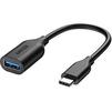 Кабель-переходник USB-USB Type C (Anker Powerline A8165011) (черный) - Usb, hdmi кабельUSB-, HDMI-кабели, переходники<br>Кабель предназначен для зарядки и синхронизации данных. Скорость передачи/чтения данных: 5 Гб/сек, прочная оплетка, алюминиевые коннекторы, длина 82 мм.<br>