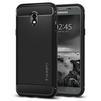 Чехол-накладка для Samsung Galaxy J3 2017 (Spigen Rugged Armor 580CS21499) (черный) - Чехол для телефонаЧехлы для мобильных телефонов<br>Защитит смартфон от грязи, пыли, брызг и других внешних воздействий.<br>