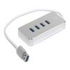 5bites HB34-308SL (серебристый) - USB HUBUSB HUB<br>USB-концентратор, 4хUSB3.0, индикация питания, встроенный USB-кабель 30см, материал корпуса алюминий.<br>