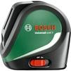 Bosch UniversalLevel 3 Basic (0603663900) - Измерительный инструментИзмерительный инструмент<br>Нивелир лазерный, автоматическое выравнивание, 2 луча (горизонталь/вертикаль), 3 режима работы нивелира: проекция двух лазерных линий, 3 лазерные линии + отвес, режим наклона; погрешность +/- 0.5 мм/м, рабочий диапазон 10 м, резьба для штатива 1/4  <br>