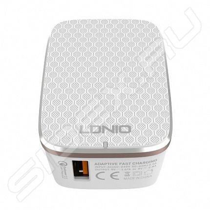 Кабель Lightning GINZZU GC-501W белый   для Iphone 5/5S / подходит для iOS 7