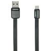 Кабель USB-Lightning 1м (REMAX Platinum Series Cable RC-044i) (черный) - Usb, hdmi кабельUSB-, HDMI-кабели, переходники<br>Высококачественный кабель для зарядки и синхронизации устройств с разъемами USB - Lightning, длина 1 м.<br>