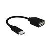 OTG переходник USB Type-C-USB F (Cablexpert A-OTG-CMAF2-01) (черный) - Usb, hdmi кабель, переходникUSB-, HDMI-кабели, переходники<br>Переходник с разъемами USB3.1 Type-C M-USB2.0 F, длина 0.2м.<br>