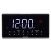 Telefunken TF-1552 - РадиоприемникРадиоприемники<br>Кварцевый стабилизатор, светодиодный дисплей с высотой символов 1.4 (3.5 см), FM-тюнер, проекционные часы с синхронизацией времени на дисплее, два будильника, 2 режима работы будильника (радио/сигнал), повторный сигнал будильника, таймер автоматического выключения радио, календарь, прогноз погоды, встроенный термометр, выходная мощность: 180 мВт.<br>