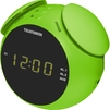 Telefunken TF-1570 (зеленый) - РадиоприемникРадиоприемники<br>Кварцевый стабилизатор, светодиодный дисплей с высотой символов 0.6 (1.5 см), FM-тюнер, 2 режима работы будильника (радио/сигнал), повторный сигнал будильника, таймер автоматического выключения радио, выходная мощность: 2 Вт, линейный вход.<br>