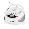 BBK BS09BT (белый, оранжевый) - МагнитолаМагнитолы<br>Аудиомагнитола BBK BS09BT, 3 Вт, MP3, FM (dig), USB, BT.<br>