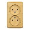 Розетка 2-местная Юпитер (Smartbuy SBE-03lw-10-S2-N) (коричневый) - Модуль, розеткаМодули и розетки<br>Розетка 2-местная, 10 А, без заземления, светлое дерево, Юпитер. Материал корпуса — термостойкий ABS-пластик. Основание — из электробезопасного негорючего пластика. Контактные группы из латуни обеспечивают высокую пропускную способность тока.<br>