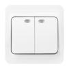 Выключатель 2-клавишный Марс (Smartbuy SBE-02w-10-SW2-1-c) (белый) - Модуль, розеткаМодули и розетки<br>Выключатель 2-клавишный, с индикатором, 10А, белый, керамика, Марс. Материал корпуса — термостойкий ABS-пластик. Основание и суппорт — из электробезопасного негорючего пластика. Контактные группы из латуни обеспечивают высокую пропускную способность тока.<br>