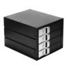 Корзина для 4х3.5 HDD (Exegate HS435-01) (черный) - Корпус, док-станция для жесткого дискаКорпуса и док-станции для жестких дисков<br>Корзина для подключения 4х3.5 жестких дисков с возможностью горячей замены, вентиляторы охлаждения: 2x4 см, размеры: 195x148x127 мм.<br>