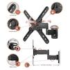 Vobix VX-4624 B (черный) - Подставка, кронштейнПодставки и кронштейны<br>Подходит для всех большинства ЖК телевизоров от 26 до 55 дюймов (66 - 140 см) со схемой крепежных отверстий VESA 100х100, 200х100, 200х200, 300х300, 400х400 мм, наилучший угол зрения обеспечивается наклоном одним движением в пределах 0°, -12°, поворачивается и выдвигается на расстояние до 470 мм и компактно складывается до 75 мм от стены, максимальная нагрузка до 30 кг.<br>