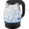 Scarlett SC-EK27G34 (черный) - ЭлектрочайникЭлектрочайники и термопоты<br>Мощность 2200 Вт, объем 1.7 л, беспроводной чайник, корпус из высококачественного термостойского стекла сохраняет природные свойства воды, Запас прочности 10 000 включений.<br>