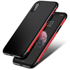 Чехол-накладка для Apple iPhone X (Baseus Bumper Case WIAPIPHX-BM09) (красный) - Чехол для телефонаЧехлы для мобильных телефонов<br>Обеспечит надежную защиту вашего мобильного устройства от повреждений, загрязнений и других нежелательных воздействий.<br>