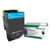 Тонер картридж для Lexmark CX417, CX517, CS417, CS517 (71B5HC0) (голубой) - Картридж для принтера, МФУ
