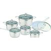 Набор посуды Frank Moller FM-712 - Посуда для готовкиПосуда для готовки<br>В набор входит: сотейник с крышкой (1.9 л), кастрюля с крышкой (1.9 л), кастрюля с крышкой (2.6 л), кастрюля с крышкой (3.6 л), кастрюля с крышкой (6.1 л), сковорода с антипригарным керамическим покрытием с крышкой (2.9 л).<br>