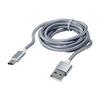 Дата-кабель USB 2.0-USB 3.1 Type-C 1м (Blast BMC-411) (серебристый) - Usb, hdmi кабель, переходникUSB-, HDMI-кабели, переходники<br>Дата-кабель USB 2.0-USB 3.1, до 480 Мбит/с, длина 1м, тканевая оплетка.<br>