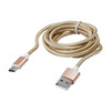 Дата-кабель USB 2.0-USB 3.1 Type-C 2м (Blast BMC-421) (золотистый) - Usb, hdmi кабель, переходникUSB-, HDMI-кабели, переходники<br>Дата-кабель USB 2.0-USB 3.1 Type-C, до 480 Мбит/с, длина 2м, тканевая оплетка.<br>
