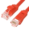 Патч-корд UTP кат. 6, RJ45 20.0м (Greenconnect GCR-LNC624-20.0m) (красный) - КабельСетевые аксессуары<br>Патч-корд, плоский, прямой, длина 20.0м, UTP, медь, кат.6, позолоченные контакты, 30 AWG, 10 Гбит/с, RJ45, T568B.<br>