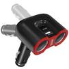 Разветвитель прикуривателя на 2 гнезда + 2хUSB (Ginzzu GA-4815UB) - Разветвитель прикуривателяРазветвители прикуривателя<br>Ginzzu GA-4815UB - разветвитель прикуривателя на две розетки и автомобильное зарядное устройство с функцией быстрой зарядки. USB2: QC3.0 -5V/3A -9V/2A -12V/1.5A, USB1: 5V/2.4A. Защита от перегрузки и короткого замыкания<br>