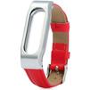Ремешок для Xiaomi Mi Band (Xiaomi Leather Wrist Band tmp_838196) (красный/серебристый) - Ремешок для умных часовРемешки для умных часов<br>Ремешок разработан и произведен специального для данной модели. Конструкция надежно удерживает гаджет, оснащена качественной застежкой.<br>