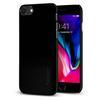 Чехол-накладка для Apple iPhone 8 (Spigen Thin Fit Series 054CS22210) (ультра-черный) - Чехол для телефонаЧехлы для мобильных телефонов<br>Защитит смартфон от грязи, пыли, брызг и других внешних воздействий.<br>