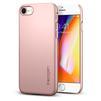 Клип-кейс для Apple iPhone 8 (Spigen Thin Fit Series 054CS22207) (розовое золото) - Чехол для телефонаЧехлы для мобильных телефонов<br>Защитит смартфон от грязи, пыли, брызг и других внешних воздействий.<br>