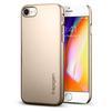 Чехол-накладка для Apple iPhone 8 (Spigen Thin Fit Series 054CS22209) (шампань) - Чехол для телефонаЧехлы для мобильных телефонов<br>Защитит смартфон от грязи, пыли, брызг и других внешних воздействий.<br>