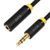 Аудио удлинитель Jack 3.5 mm (m) - Jack 3.5 mm (f) 5.0m (Greenconnect GCR-STM1114-5.0m) (черный) - Кабель, разъем для акустической системыКабели и разъемы для акустических систем<br>Используется, когда не хватает длины кабеля у акустической системы, наушников или колонок для подключения к устройству, которое служит источником звука.<br>