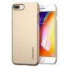Чехол-накладка для Apple iPhone 8 Plus (Spigen Thin Fit Series 055CS22239) (шампань) - Чехол для телефонаЧехлы для мобильных телефонов<br>Защитит смартфон от грязи, пыли, брызг и других внешних воздействий.<br>
