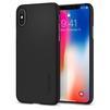 Чехол-накладка для Apple iPhone X (Spigen Thin Fit Series 057CS22108) (матово-черный) - Чехол для телефонаЧехлы для мобильных телефонов<br>Защитит смартфон от грязи, пыли, брызг и других внешних воздействий.<br>