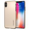 Чехол-накладка для Apple iPhone X (Spigen Thin Fit Series 057CS22111) (шампань) - Чехол для телефонаЧехлы для мобильных телефонов<br>Защитит смартфон от грязи, пыли, брызг и других внешних воздействий.<br>