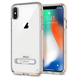 Чехол-накладка для Apple iPhone X (Spigen Crystal Hybrid 057CS22145) (шампань)